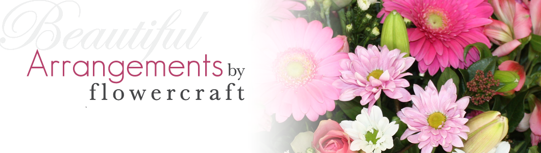 Flowercraft arrangements banner
