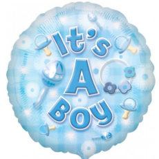 It's a boy blue balloon