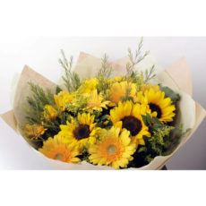 Yellow Daisies and Sunflower Bouquet