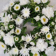 White Daisies and White Carnation Arrangement