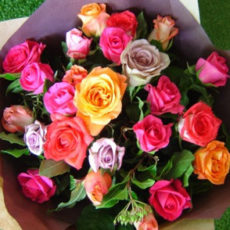 Pink, Peach an Purple Rose Bouquet