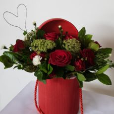 Red Rose Arrangement in red box