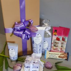 Lavender Body Lotion, Foam Bath, Shower Gel, Soap with Hug in a Mug Cappuccino and Wedgewood Nougat