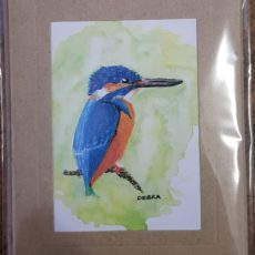 Kingfisher painting card