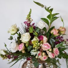 Pink and White Rose Floral Arrangement