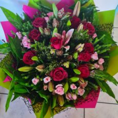 Fynbos, Lily and Rose Bouquet