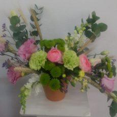 Floral Pink Rose and Pennygum Arrangement